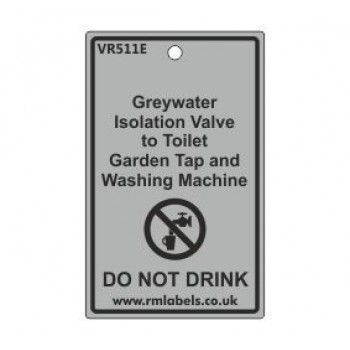 Greywater Isolation Valve to Toilet Garden Tap and Washing Machine Label Code VR511E