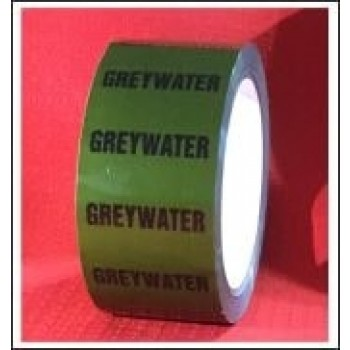 Greywater self adhesive Pipe Identification Tape Code ID166T50G