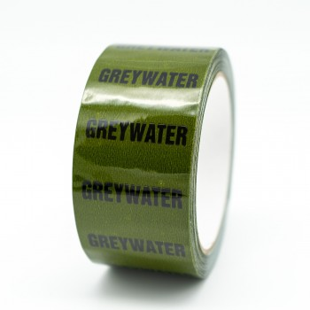 Greywater Pipe Identification Tape - Green 12-D-45 - R M Labels - ID166T50G