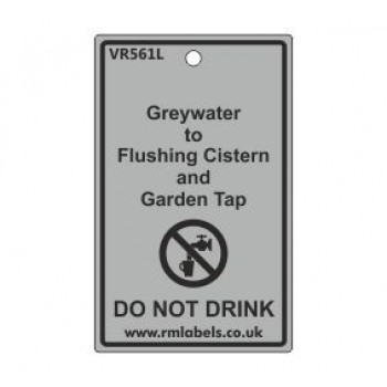 Greywater to Flushing Cistern and Garden Tap Label Code VR561L