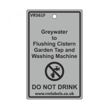 Greywater to Flushing Cistern Garden Tap and Washing Machine Label Code VR561F