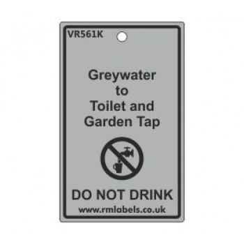 Greywater to Toilet and Garden Tap Label Code VR561K