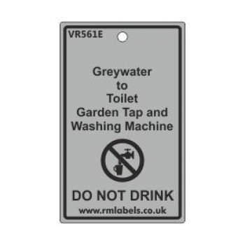 Greywater to Toilet Garden Tap and Washing Machine Label Code VR561E