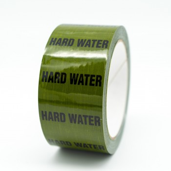 Hard Water Pipe Identification Tape - Green 12-D-45 - R M Labels - ID242T50G