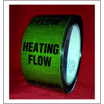 Heating Flow Pipe Identification Tape ID255T50G