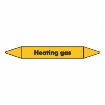 Heating Gas Pipe Marker self adhesive vinyl code PMG43a