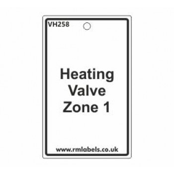 Heating Valve Zone 1 Valve Tag VH258