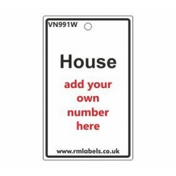 House Label in white Code VN991W