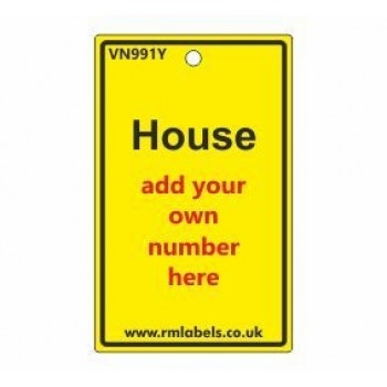 House Label in yellow Code VN991Y