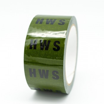 HWS Pipe Identification Tape for Hot Water Service / Supply - Green 12-D-45 - R M Labels - ID159T50G