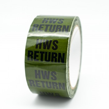 HWS Return Pipe Identification Tape for Hot Water Service / Supply - Green 12-D-45 - R M Labels - ID143T50G