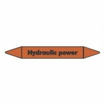 Hydraulic Power Pipe Marker self adhesive vinyl code PMO41a