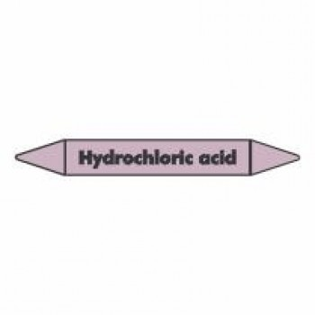 Hydrochloric Acid Pipe Marker self adhesive vinyl code PMAc34a