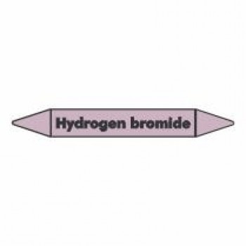 Hydrogen Bromide Pipe Marker self adhesive vinyl code PMAc35a