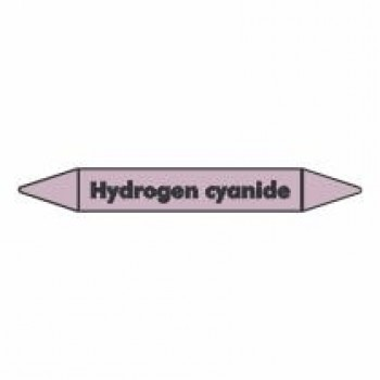 Hydrogen Cyanide Pipe Marker for Acids and Alkalis self adhesive vinyl code PMAc37a