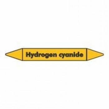 Hydrogen Cyanide Pipe Marker for Gases self adhesive vinyl code PMG47a