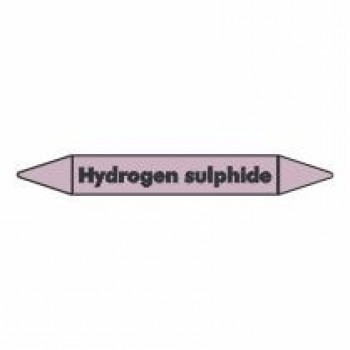 Hydrogen Sulphide Pipe Marker for Acids and Alkalis self adhesive vinyl code PMAc39a
