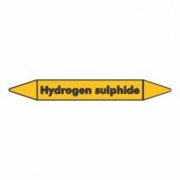 Hydrogen Sulphide Pipe Marker for Gases self adhesive vinyl code PMG48a