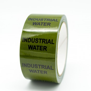 Industrial Water Pipe Identification Tape - Green 12-D-45 - R M Labels - ID244T50G