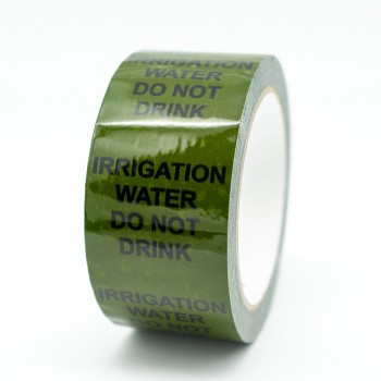 Irrigation Water Do Not Drink Pipe Identification Tape - Green 12-D-45 - R M Labels - ID257T50G
