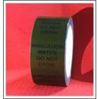Irrigation Water Do Not Drink self adhesive Pipe Identification Tape Code ID257T50G