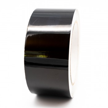 Jet Black External Pipe Identification Tape 50mm wide - RAL 9005 - R M Labels - EXD257C50
