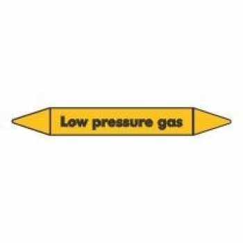 Low Pressure Gas Pipe Marker self adhesive vinyl code PMG51a