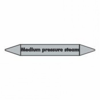Medium Pressure Steam Pipe Marker self adhesive vinyl code PMS07a