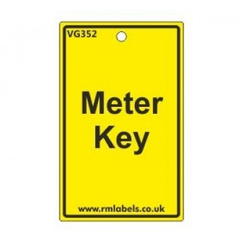 Meter Key Label Code VG352