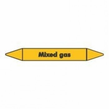 Mixed Gas Pipe Marker self adhesive vinyl code PMG53a