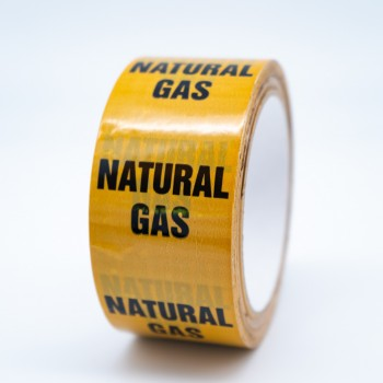 Natural Gas Pipe Identification Tape - R M Labels -  ID134T50YO