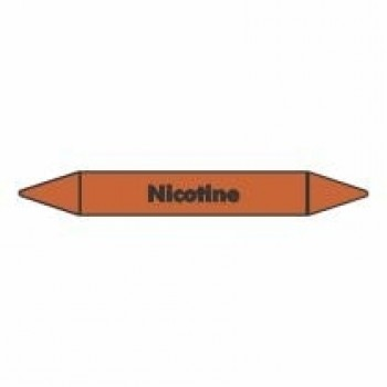 Nicotine Pipe Marker self adhesive vinyl code PMO50a