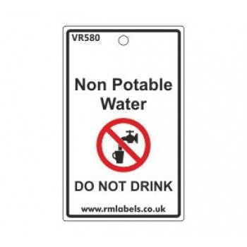 Non Potable Water Do Not Drink Label Code VR580