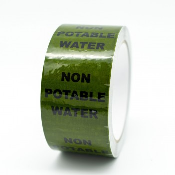 Non Potable Water Pipe Identification Tape - Green 12-D-45 - R M Labels - ID170T50G