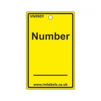 Number Label in yellow Code VN990Y