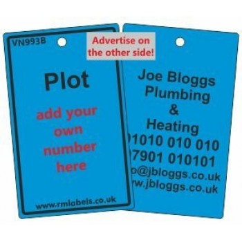 Plot Label in blue and your details on reverse Code VN993BA