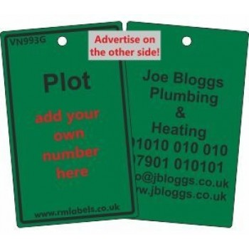 Plot Label in green and your details on reverse Code VN993GA