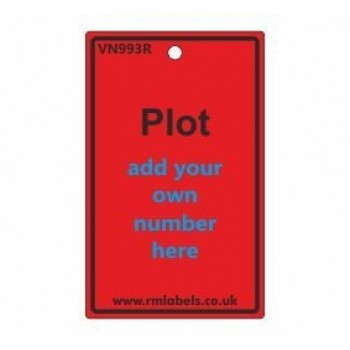 Plot Label in red Code VN993R