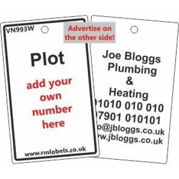 Plot Label in white and your details on reverse Code VN993WA