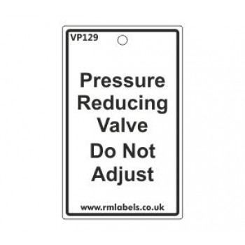 Pressure Reducing Valve Label Code Vp129
