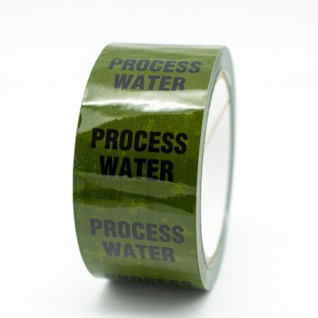 Process Water Pipe Identification Tape - Green 12-D-45 - R M Labels - ID247T50G
