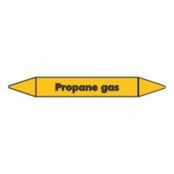 Propane Gas Pipe Marker self adhesive vinyl code PMG62a