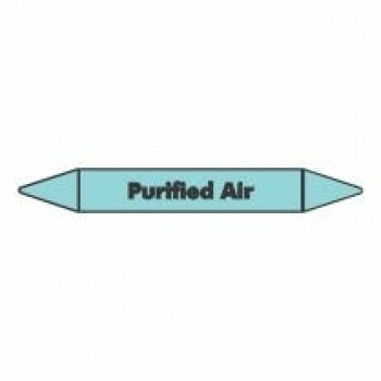 Purified Air Pipe Marker self adhesive vinyl code PMCa17a