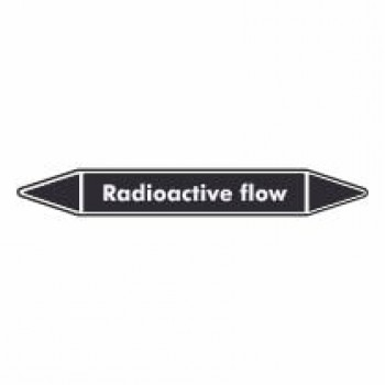 Radioactive Flow Pipe Marker self adhesive vinyl code PML04a