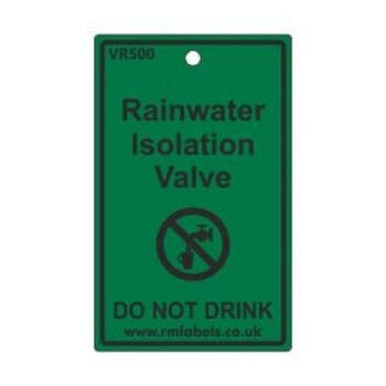 Rainwater Isolation Valve Label Code VR500