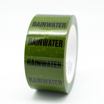 Rainwater Pipe Identification Tape - Green 12-D-45 - R M Labels - ID167T50G