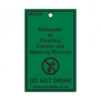 Rainwater to Flushing Cistern and Washing Machine Label Code VR551H
