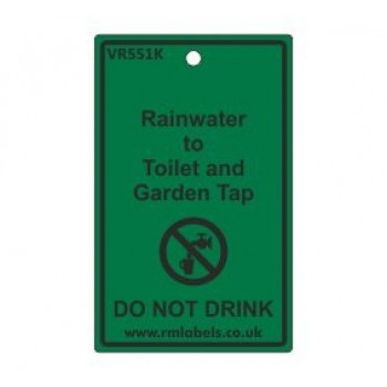 Rainwater to Toilet and Garden Tap Label Code VR551K