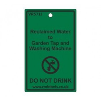 Reclaimed Water to Garden Tap and Washing Machine Label Code VR571J