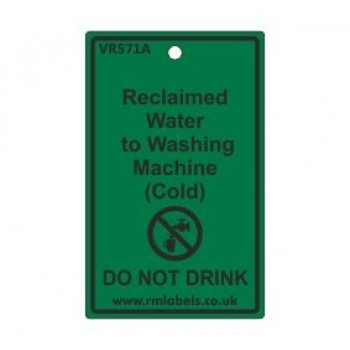 Reclaimed Water to Washing Machine Label Code VR571A